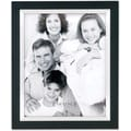 Black Wood 5x7 with Silver Metal Inner Bezel Picture Frame