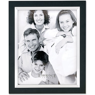Black Wood 8x10 with Silver Metal Inner Bezel Picture Frame