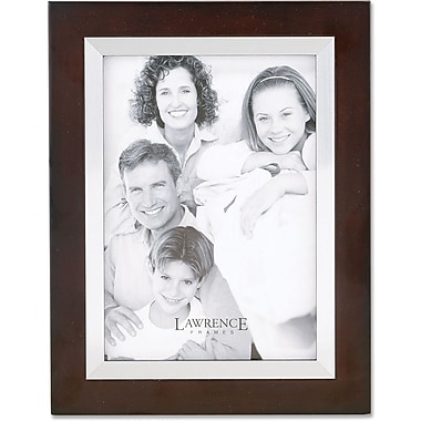 Walnut Wood 11x14 with Silver Metal Inner Bezel Picture Frame