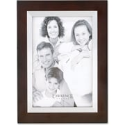 Walnut Wood 4x6 with Silver Metal Inner Bezel Picture Frame