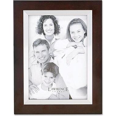 Walnut Wood 8x10 with Silver Metal Inner Bezel Picture Frame