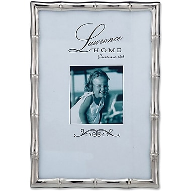 710146 Silver Metal Bamboo 4x6 Picture Frame