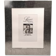 710580 Hollywood Silver Metal Squares 5x7 Matted for 5x7 Picture Frame