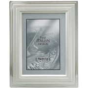 4x6 Metal Picture Frame Silver-Plated Step