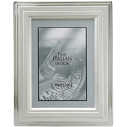 5x7 Metal Picture Frame Silver-Plated Step