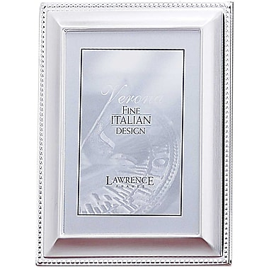 4x6 Metal Picture Frame Silver-Plated Bead Border