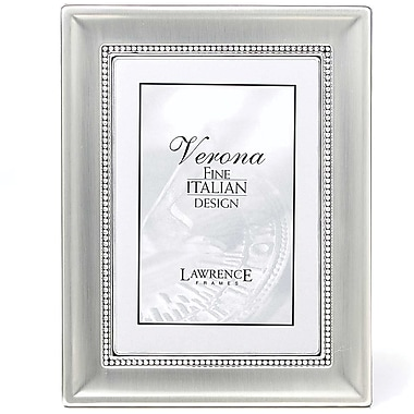 4x6 Metal Picture Frame Two-Tone Silver-Plated