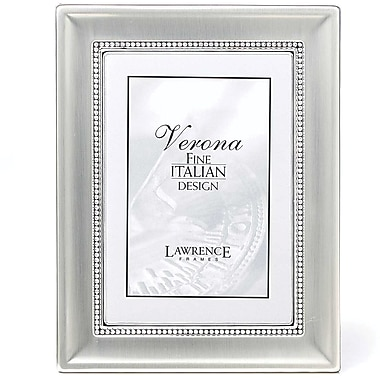 5x7 Metal Picture Frame Two-Tone Silver-Plated
