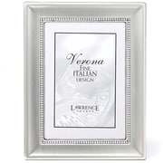 "Lawrence Frames Verona Collection 5"" x 7"" Brushed Silver Beaded Picture Frame (720257)"