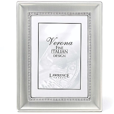 8x10 Metal Picture Frame Two-Tone Silver-Plated