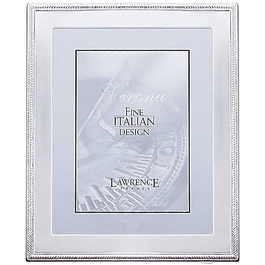 Lawrence Frames Silver Metal Picture Frame with Braid