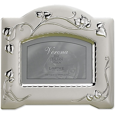 4x6 Satin Silver Plated Picture Frames with Vine Design