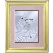 4x6 Metal Picture Frame Two-Tone Brass-Plated