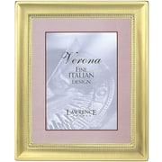 5x7 Metal Picture Frame Two-Tone Brass-Plated