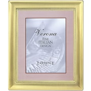 8x10 Metal Picture Frame Two-Tone Brass-Plated