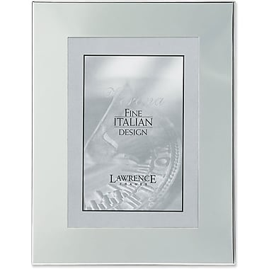 Silver Plated Engraveable 5x7 Metal Picture Frame