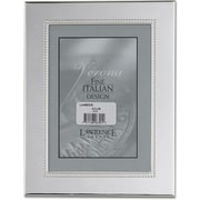 "Lawrence Frames Verona Collection 5"" x 7"" Metal Picture Frame with Silver Beads (728057)"