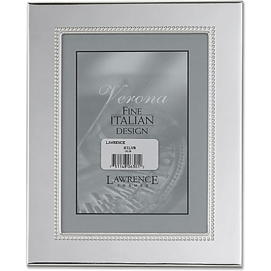 Silver Plated 8x10 Metal Picture Frame - Inner Bead