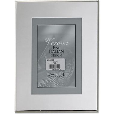 Silver Plated 4x6 Metal Picture Frame - Outer Edge