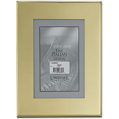 Brass Plated 4x6 Metal Picture Frame - Outer Edge