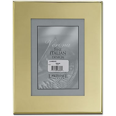 Brass Plated 5x7 Metal Picture Frame - Outer Edge