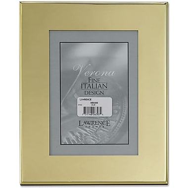 Brass Plated 8x10 Metal Picture Frame - Outer Edge