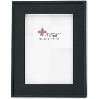 4x6 Black Wood Picture Frame with Flat design and Outer Edge Detail
