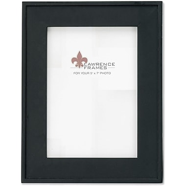 5x7 Black Wood Picture Frame with Flat design and Outer Edge Detail