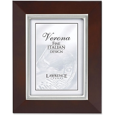 Walnut With Satin Silver Bezel 4X6 Picture Frame - Classic Design