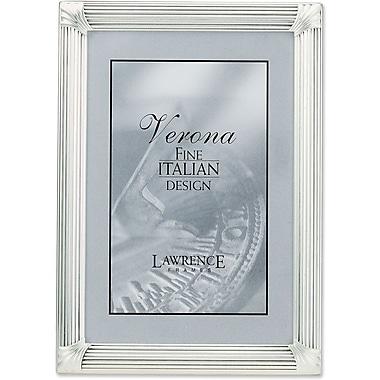 Lawrence Frames Brushed Silver Corner Ornaments