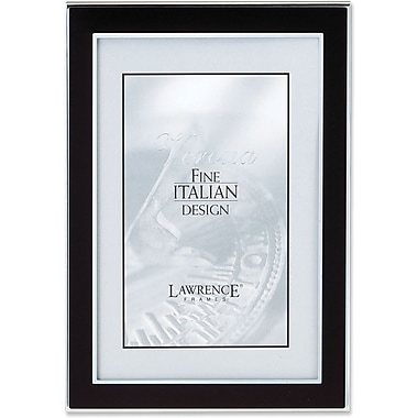 Lawrence Frames Silver and Black Metal Picture Frame