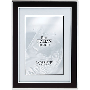 Silver and Black 5x7 Metal Picture Frame