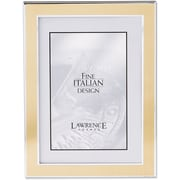 Silver and Gold 5x7 Metal Picture Frame