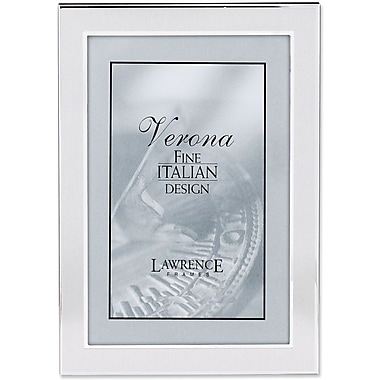 Brushed Silver 4in. x 6in. Metal Picture Frame