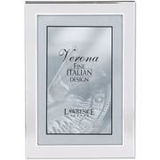 "Brushed Silver 4"" x 6"" Metal Picture Frame"