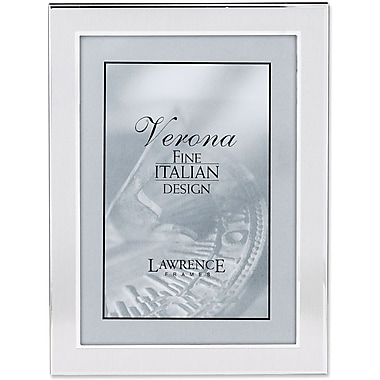 Brushed Silver 5in. x 7in. Metal Picture Frame