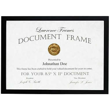 Lawrence Frames Black Wood Certificate Picture Frame