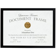 Lawrence Frames 8.5x11 Black Wood Certificate Picture Frame - Gallery Collection