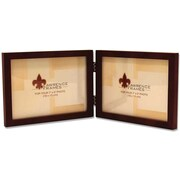 "Lawrence Frames 5"" x 7"" Wooden Walnut Brown Double Picture Frame (755675D)"