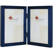 4x6 Hinged Double Blue Wood Picture Frame - Gallery Collection