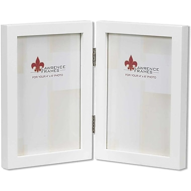 lawrence frames 4 x 6 studio wood white double picture frame