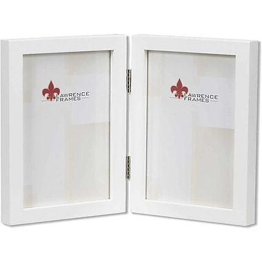 5x7 hinged double white wood picture frame gallery collection