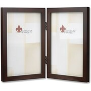 "Lawrence Frames 4"" x 6"" Wooden Espresso Hinged Double Picture Frame (755946D)"