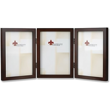 755957T Espresso Wood 5x7 Hinged Triple Picture Frame - Gallery Collection