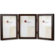 "Lawrence Frames 5"" x 7"" Wooden Espresso Hinged Triple Picture Frame (755957T)"