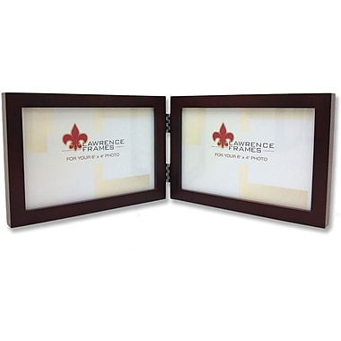 755964D Espresso Wood 6x4 Hinged Double Picture Frame - Gallery Collection