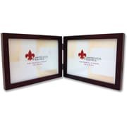 755975D Espresso Wood 7x5 Hinged Double Picture Frame - Gallery Collection