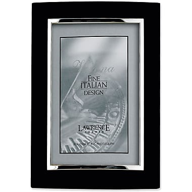 Domed Black Metal 4x6 with Silver Inner Edge Picture Frame