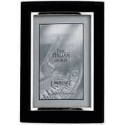 "Lawrence Frames Verona Collection 4"" x 6"" Metal Black/Silver Domed Picture Frame (760146)"
