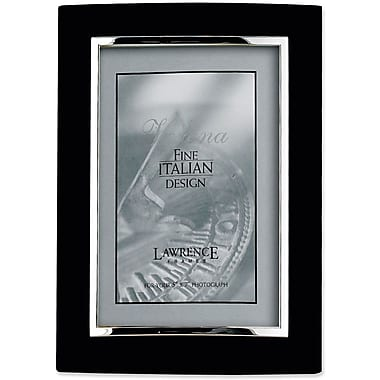 Domed Black Metal 5x7 with Silver Inner Edge Picture Frame